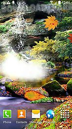 autumn waterfall 3d