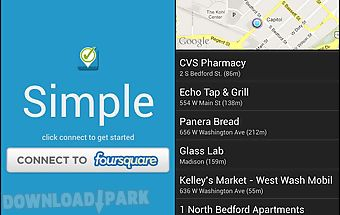 Simple checkin for foursquare