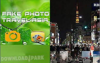 Fake photo travel asia