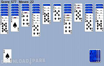 Spider solitaire popular game fr..