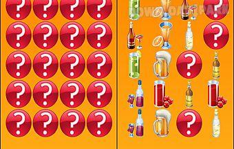 Bar drinks memory game free