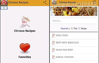 Chinese food recipes free