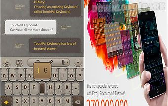 Cool touchpal leather theme