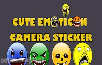 Cute emoticon camera sticker