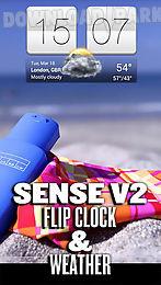 sense v2 flip clock and weather