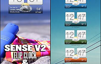 Sense v2 flip clock and weather
