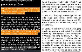 Yoruba bible - west africa