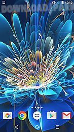 neon flowers by phoenix live wallpapers