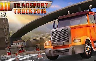 Oil transport truck 2016