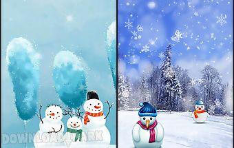 Snowman live wallpaper