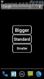 big font widget