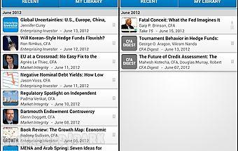 Cfa institute mobile app