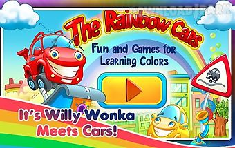 Rainbow cars! kids colors game