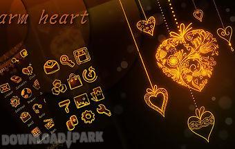 Warm heart go launcher theme