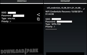Wifi credentials recovery★root