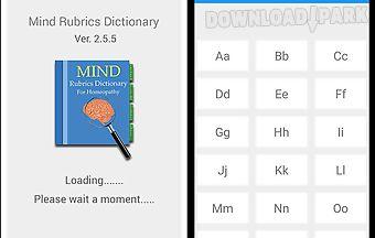 Mind rubrics dictionary