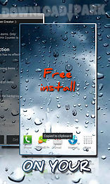 rain drops on your phone live wallpaper