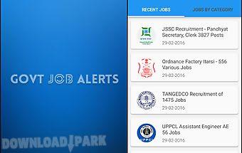 Daily govt job alerts daily gk