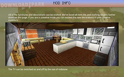 Decoration Furniture Mod Mcpe Android Anwendung Kostenlose