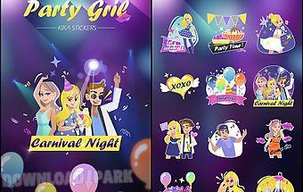 Kika pro party girl sticker