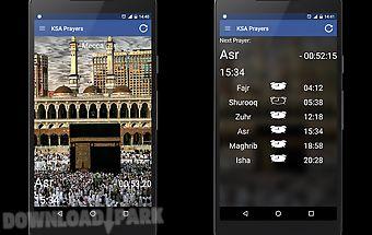 Saudi arabia ksa prayer times