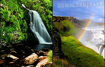 Scenic waterfall wallpaper
