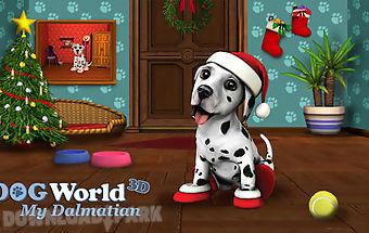 Christmas with dog world