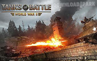 Tanks of battle: world war 2