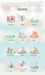 cute city theme -zero launcher