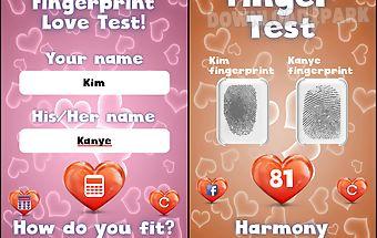 Fingerprint love test for fun