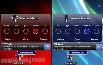 Volume selector free