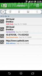 qr droid: code scanner