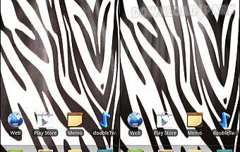 Zebra print live wallpaper