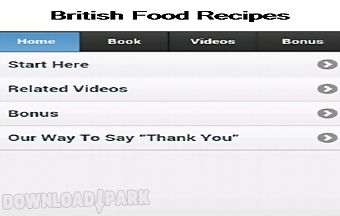British food recipes