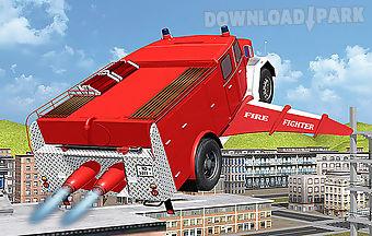 Flying firetruck city pilot 3d