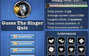 Guess the singer quiz free