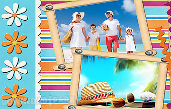 Summer holiday photo frames