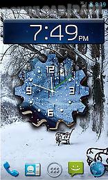 winter snow clock