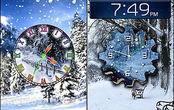 Winter snow clock