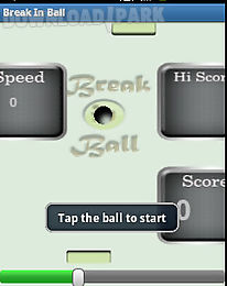 break in ball