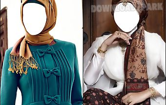 Hijab fashion photo montage