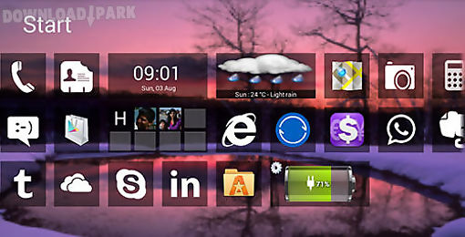 Windows 8+ launcher Android App free download in Apk