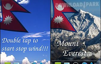 3d nepal flag live wallpaper