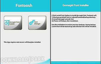 Font-oosh: font installer