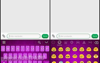Lavender emoji keyboard theme