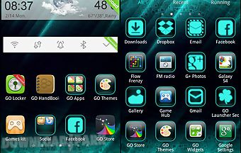 Cyanogen theme go launcher