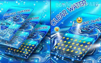 Clear water keyboard