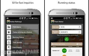 Indian railway irctc train app
