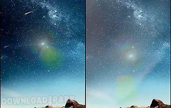 Meteors sky