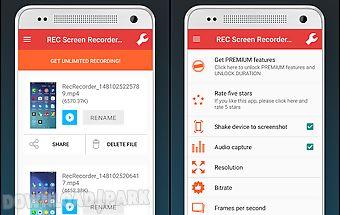 Rec screen recorder no-root hd